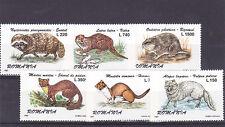 Romania 1997, Otter, fox, animals, MNH