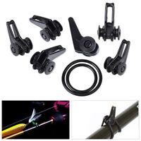 10 Sets Black Adjustable Fishing Rod Easy Secure Hook Keeper Holder Lure Jig New