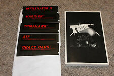Test Pilot Commodore 64 harrier tomahawk atf crazy cars infiltrator 2 w/manual