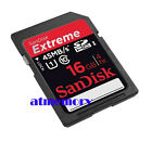 Sandisk Extreme 16GB SDHC SD HD Video 16G 45MB/s Class 10 UHS-1 Memory Card