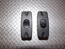 Pack de 2x 2A SPST en Línea Interruptor de Lámpara de Mesa Negro 12V DC o 230V AC unipolar