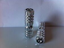 "BICYCLE ALLOY PEGS 24T/26T CHROME 3""L X 1""W BEACH CRUISER LOWRIDER BMX CHOPPER"