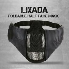 Lixada Tactical Foldable Half Face Mask Protective Mesh Mask for Airsoft U6H8