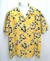 Kennington Men's Yellow Hawaiian Button Down Shirt - XL
