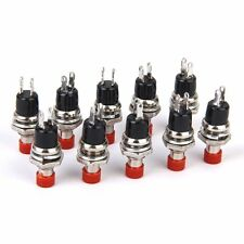 Mini Momentary Push Button Switch for Model Railway Hobby 7mm Pack of 10 Red