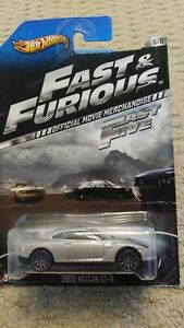 2013 HOT WHEELS FAST AND FURIOUS 2009 NISSAN GT-R 6/8 OFFICIAL MOVIE CARS