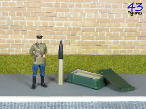 Open ammo box and two cannon-shots 1:43 Resin Handmade