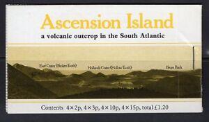 ASCENSION SGSB3a 1984 LANDSCAPES BOOKLET STAPLED AT RIGHT MNH