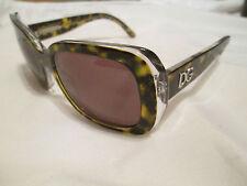 Dolce & Gabbana Marron Écailles de tortue cadre lunettes de soleil avec étui.. DG 4052.