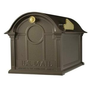 Whitehall Products Mailbox Bronze Cast Aluminum Large Cap. All Weather Coating