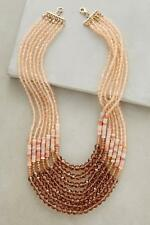 NWT Anthropologie Apricombre Necklace, Coral Necklace Beaded and Layered