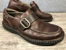 d4eff274749 EASTLAND Syracuse Brown Monk Strap Buckle Leather Casual Loafers Women US  10M
