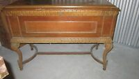 Antique Cedar Lined Blanket Hope Chest/ Sideboard Carved RARE-Landau Cabinet Co