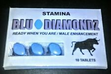 Blu Diamondz  Sex Pills 10 Pills Male Enhancement Super Hard