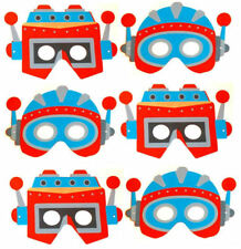 6 Schiuma DELLO SPAZIO ROBOT Maschere-Pinata Giocattolo Bottino/Party Bag Filler Nozze/Bambini