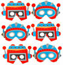 6 Foam Space Robot Masks - Pinata Toy Loot/Party Bag Fillers Wedding/Kids