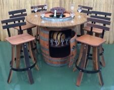 BARREL BISTRO SET DINING SETTING INDOOR OUTDOOR  CHOICE OF STOOLS
