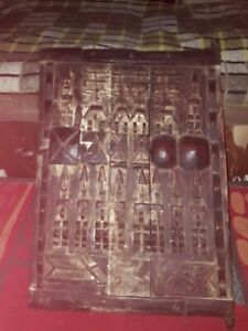 porte de grenier dogon  art africain sculpture masque serrure africaine