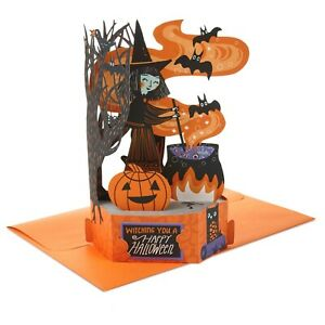 HALLMARK Halloween Card ~ Paper Wonder 3D POP UP Greeting Card ~ Witch