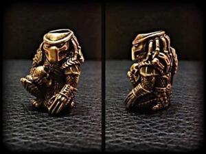 Predator Paracord Bracelet Bead Solid Bronze Handmade Lanyard Beads Knife Tool