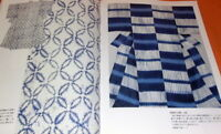 Japanese Traditional Shibori Works book dyeing cloth Japan shiborizome #0788