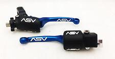 ASV Blue F3 Unbreakable Brake + Clutch Lever Kit Raptor 700 YFZ450 450R 2007+
