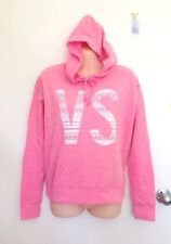 "NWT Victoria's Secret Fleece Jacket Hoodie ""VS"" Sweater Jumper Pink Size XS (J4)"