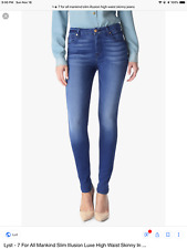 NEW 7 For All Mankind Slim Illusion The High Waist Skinny Jeans -  32