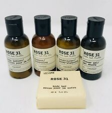 Le Labo Rose 31 Travel Size 5 pc Shampoo Conditioner Lotion Soap Shower Gel 1.4