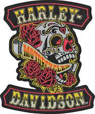 HARLEY DAVIDSON Sugar Rockers Skull 9.25  INCH PATCH