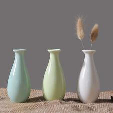 Ceramic Small Vase Creative Desktop Flower Vase Simple Bullet Bottle