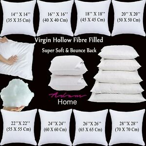 Cushion Pads Premium Quality Hollow Fibre Filled Pillow Inserts Inners Fillers