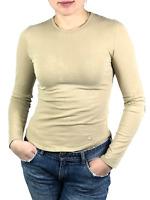 BURBERRY LONDON women's beige nova check long sleeve t-shirt   Size S