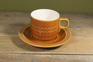 Vintage Hornsea Saffron Ceramic Small Coffee Cup & Saucer
