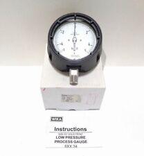 "Wika Type: 632.34 4.5"" Range: -5/5 INH2O 1/2"" NPT LM Low Pressure Gauge"