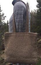 The Sak Khaki Crochet Knit Medium Bag Purse Handbag