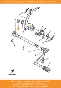 YAMAHA Roller, Shift Lever, 401-18178-00 OEM DT125 RT100 DT125MX TY125 DT175