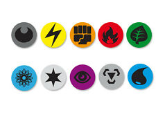 Lot Pack Badge Button Ø25mm Pokemon Energy Cards Symbols Energy Carte Energie