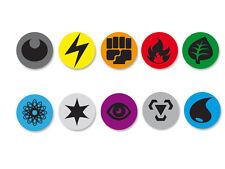 Lot Pack Badge Button Ø25mm Pokemon Energy Cards Symbols Energy Carte Energie