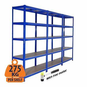 3 x Metal Racking Bays | Freestanding/Garage Shelving/Heavy Duty Storage Rack