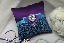 Ring pillows Purple wedding Wedding ring bear pillows Purple