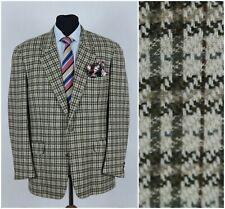 Mens TRUSSARDI UK 42R Vintage Check Houndstooth Tweed Jacket Sport Coat Blazer
