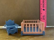 Vintage Ideal Toy Doll Furniture Baby Crib And Potty Chair