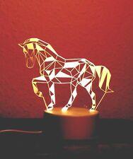 3D LED Illusionslampe Pferd Nachtlicht Stimmungslicht Kinderlicht