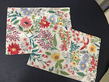 Food Network Red Bird Floral Flowers and Birds 2 Placemats