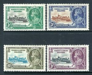 TURKS & CAICOS ISLANDS 1935 Silver Jubilee Mint Set Complete (May 138)