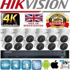 HIKVISION 16 CH 8CH 4K 5MP CCTV SYSTEM HD DVR UHD HIKVISION CCTV KIT GREY WHITE