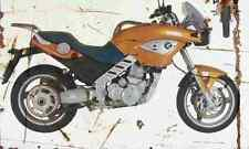 BMW F650CS 2002 Aged Vintage SIGN A4 Retro