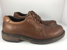 BASS United Men US 10.5 Brown Leather Derby Dress Round Toe Dress Shoes 11N5