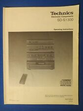 TECHNICS SD-S1300 OWNER OPERATING MANUAL ORIGINAL FACTORY ISSUE THE REAL THING